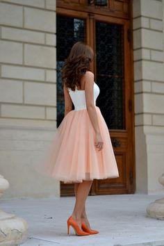 Ballerina pink tulle skirt.
