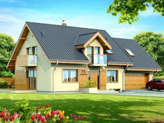 DOM.PL™ - Projekt domu DN KENDRA 2M CE - DOM PC1-28 - gotowy projekt domu Style At Home, Exterior Design, Interior And Exterior, Prefabricated Houses, Cottage Style Homes, Design Case, Home Fashion, Old Houses, Home Projects