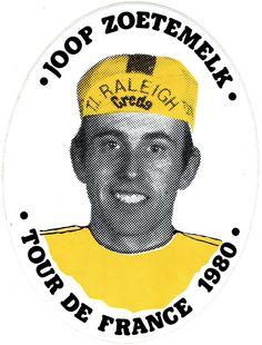 Joop Zoetemelk - winnaar Tour de France 1980 - sticker.