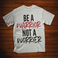 Christian design shirts ideas with saying Be a warrior not a worrier. Christian Tee Shirts, Christian Hoodies, Christian Clothing, Forgiveness Quotes Christian, Christian Quotes, Gods Love Quotes, Strong Quotes, Change Quotes, God Quotes About Life