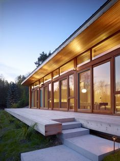 Love the wood! +HOUSE in Mulmur, Ontario, Canada by Superkül Inc Architects. Courtesy of contemporist.com