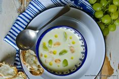 AJOBLANCO or White Garlic Gazpacho. Learn to prepare this refreshing and simple Spain dish: http://www.spainandtravel.com/featured/ajoblanco-white-garlic-gazpacho/