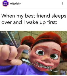 Umm correct, I wake up first Stupid Funny Memes, Funny Relatable Memes, Funny Posts, The Funny, Hilarious, Funny Cute, Rasengan Vs Chidori, Disney Memes, Just For Laughs