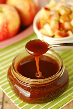 Apple Recipes: Cinnamon Buttermilk Caramel Syrup for Apples by The Gunny Sack