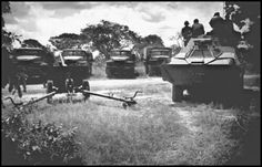 Early Op into Angola. Captured Russian artillery.