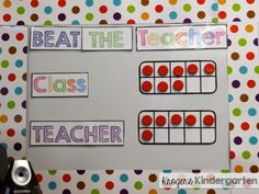 Simple, FUN game to practice spelling words, math facts, etc.!