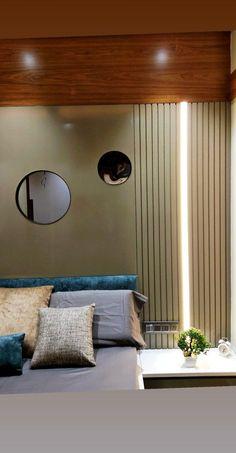 Bedroom Wall Designs, Modern Bedroom Decor, Master Bedroom Design, Bedroom Ideas, Flat Interior Design, Apartment Interior Design, Interior Work, Furniture Handles, Bed Furniture