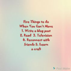 Five Things to Do When You Can't Move Make You Feel, How Are You Feeling, Chocolate Vodka, Things That Bounce, Things To Do, Ontario Travel, Fighting Cancer, Medical Help, Apple Magic