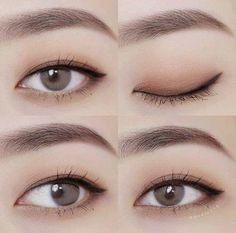 Koreanische Make-up-Tipps: Matte Lippenstifte können Korean Makeup Tips, Korean Makeup Look, Korean Makeup Tutorials, Asian Eye Makeup, Natural Eye Makeup, Korean Makeup Tutorial Natural, Simple Eyeliner Tutorial, Ulzzang Makeup Tutorial, Asian Makeup Looks