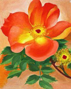 Austrian Copper Rose IV, 1958 ~ Georgia O'Keeffe