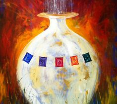 The Chosen Vessel. Painted 'live' at Empowering Love with Leonard Jones leading worship, DaySpring Prophetic Art Father Son Holy Spirit, Prophetic Art, Lion Of Judah, Bible Art, Christian Art, Gods Love, Holi, Worship, Color Schemes