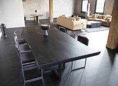 Withers and Grain designs custom furniture and interiors from our Studio in Williamsburg, Brooklyn. We have a full welding studio and custom woodworking studio. Custom Woodworking, Custom Furniture, Dining Table, Interior, Design, Vernon, Studio, Home Decor, Bespoke Furniture
