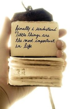Little things..........