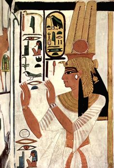 Anonymous painterGrave chamber of Nefertari, wife of Ramses II. Scene: The Queen Nefertari in prayer positionca. 1298-1235 BCE, Thebes