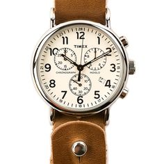 Horween Leather Timex Chronograph | Huckberry