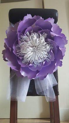 Papel gigante flores decoración púrpura-mesa por WPaperFlowerDesign                                                                                                                                                                                 More