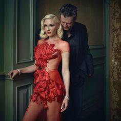 Gwen Stefani and Blake Shelton | Mark Seliger's Vanity Fair Oscar Party Portrait Studio