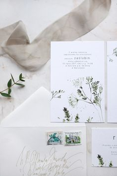 Botanical wedding invitations  Botanical stationery
