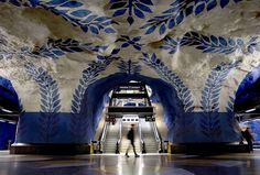 sweden has an amazing subway system.