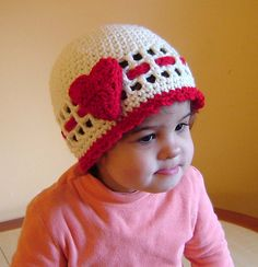 Ravelry: Red heart or Rose Beanie CROCHET PATTERN All sizes pattern by JTcreations