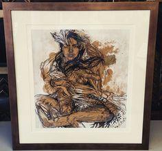 Limited Edition art framed with a bronze frame and linen matting! #art #pictureframing #customframing #denver #colorado
