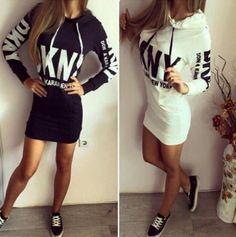 Mikinové šaty DKNY black and white http://predavajmodu.sk/ponuka-inzercie/ad/damske-saty,95/mikinove-saty-dkny-black-and-white,6898