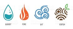 Four elements flat style symbols. Water, fire, air, earth signs royalty-free four elements flat style symbols water fire air earth signs stock vector art & more images of wind Four Elements Tattoo, 4 Elements, Earth Element Symbol, Element Symbols, Element Tattoo, Free Vector Graphics, Free Vector Art, Vector Icons, Symbole Tattoo