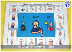Make this for nurses office!!! And classrooms. Would help communication for all