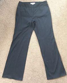 *MICHAELS KORS* Women's Black Straight Leg Front Pleat Cotton Pants 8