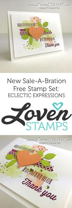LovenStamps: Eclectic Expressions - new Sale-A-Bration free stamp set release from Stampin Up