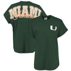 Miami Hurricanes Pressbox Women's Sweeper T-Shirt - Green - $44.99