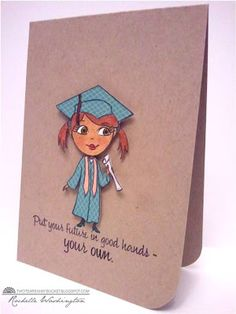 LOVE the paper pieced cap and gown on this one!