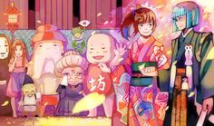 I adore this picture! I love Spirited Away and Chihiro and Haku so much.