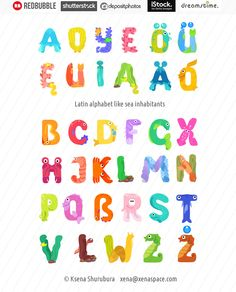 Hello, dear friends. Today I'm presenting you another one creative work. Some time ago, I had an inspiration to draw few types of alphabets and I've produced them in cartoon style. One ...