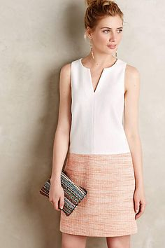 Colorblock Tweed Shift - anthropologie.com #anthrofave
