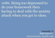 Been there, done that, ended up scared to go to school, being bullied because I didn't go to school, then taking panic attacks when I tried to go to school...vicious cycle.