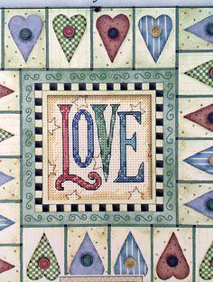 Love Counted Cross Stitch Dimensions Daydreams by ncknittinchick