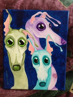 Hey, I found this really awesome Etsy listing at http://www.etsy.com/listing/114881205/three-amigos-greyhound-8x10-inch-print