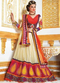 Charming Off White Embroidered Border Work Net Lehenga Choli
