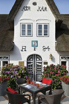 Landhaus Stricker. Restaurant of a Grand Chef Relais  Châteaux and hotel in town. Sylt OT Tinnum, Germany. #relaischateaux