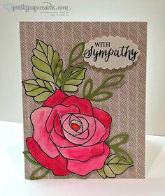 Beautiful Rose Wonder stamp set and die! #stampinup #rosewonder #prettypapercards