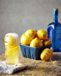 Lemon Gin Fizz via anthropologie blog