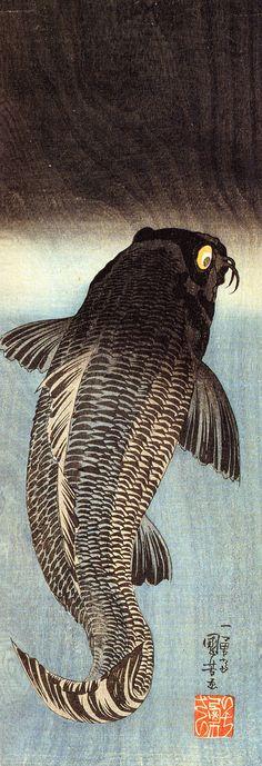 Black Carp / Utagawa Kuniyoshi