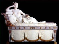 Pauline Bonaparte by Canova at the Borghese Gallery in Roma. Pictures don't do it justice.