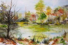 Watercolor Canvas, Watercolor Landscape, Watercolor Paintings, Watercolors, Art Gallery, Art Original, Oeuvre D'art, Artwork, Arts And Crafts