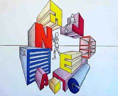 perspect lesson, perspect draw, draw lesson, perspect letter, twopoint perspect, art lesson, school art, andiperspectivejpg 518438, one point perspective