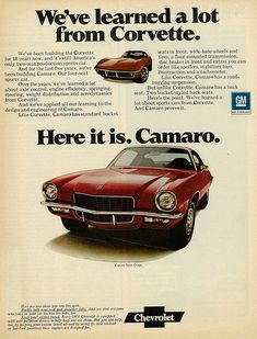 1971 Car Ad, Chevrolet Camaro