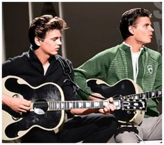 the Everly Brothers Phil left, Don right