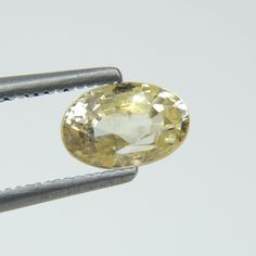 1.74Ct Fabulous Luster Yellow Unheated Oval Shape 8x6mm Natural Yellow Sapphire