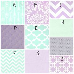 Design Your Own Baby Bedding Lavender & Mint by PolkaToTBedding, $198.00